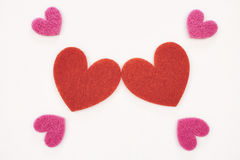 Hearts of love Stock Image
