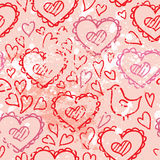 Hearts love seamless vector Royalty Free Stock Photos