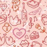 Hearts love seamless vector Royalty Free Stock Photo