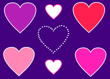 Hearts love symbols Royalty Free Stock Image