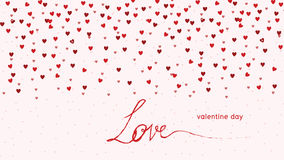 Hearts Love - Valentine`s Day Background - Illustration - Vector Royalty Free Stock Photos