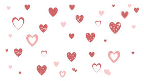 Hearts Love - Valentine`s Day - Illustration - Vector Royalty Free Stock Image