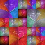 Hearts lovely card Stock Photos