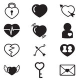 Hearts Lover Concept icons  set of love signs Stock Photo
