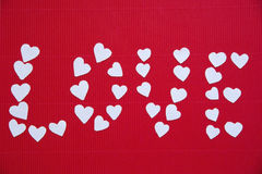 Hearts made ​​of paper  for Valentine's day Stock Images