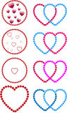 Hearts made of dots Stock Photography