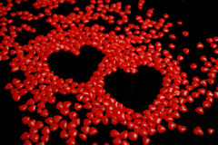Hearts Made From Candy Stock Photography
