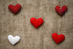 Hearts made with hands Royalty Free Stock Images