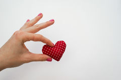 Hearts made with hands Royalty Free Stock Image