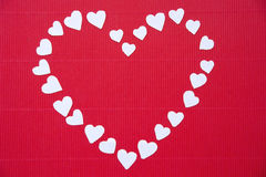 Hearts made of paper  for Valentine's day Stock Images