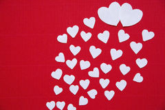 Hearts made of paper  for Valentines day Stock Photos