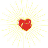 Hearts of the man and the woman Royalty Free Stock Photography