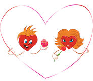 Hearts of the man and the woman in expression of l Stock Photography