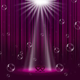 Hearts Mauve Indicates Lightsbeams Of Light And Entertainment Royalty Free Stock Images