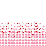 Hearts Mosaic. Colored hearts in a mosaic-style pattern stock illustration