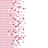 Hearts Mosaic. Colored hearts in a mosaic-style pattern Royalty Free Stock Photography
