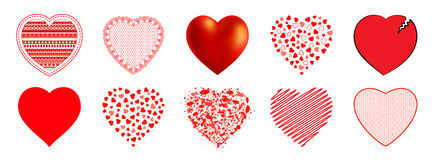 The hearts  for  Mother`s Day, Valentine`s Day or weddings, emotions and feelings Royalty Free Stock Photo