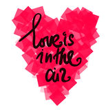 Hearts with motivating quotes on white background. Vector Stock Image