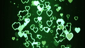 Hearts moving randomly Royalty Free Stock Images