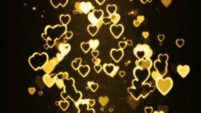 Hearts moving randomly Stock Photography