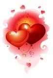 Hearts_nebula Royalty Free Stock Images
