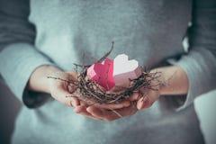 Hearts nest Stock Photo