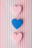 Hearts on nice pink white background Royalty Free Stock Images