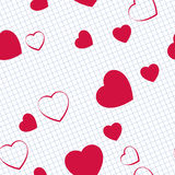 Hearts in notebook Stock Photos