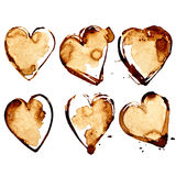 Hearts - �offee stains Stock Image