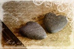 Hearts On Book Stock Photos