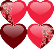 Hearts with ornament Royalty Free Stock Photo