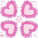Hearts ornament stock image