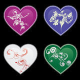 Hearts and ornaments Royalty Free Stock Image
