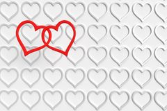 Hearts over hearts Stock Images