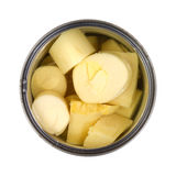 Hearts of palm in can Stock Photos