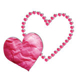 Hearts paper. Paper cut in the heart shapes for designs Stock Photo