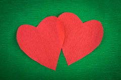 Hearts paper Stock Images