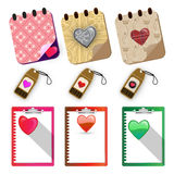 Hearts paper labels set - Illustration Royalty Free Stock Photo