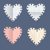 Hearts paper note Royalty Free Stock Photography