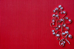 Hearts of  paper quilling  for Valentine's day Stock Images