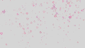 Hearts Particles Romantic stock video footage
