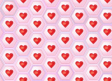 Hearts patchwork Royalty Free Stock Photography