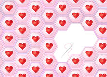 Hearts patchwork Stock Image
