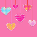 Hearts, Patchwork Stock Photo