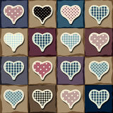 Hearts patchwork pattern Royalty Free Stock Images