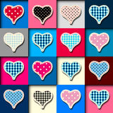 Hearts patchwork pattern Stock Images