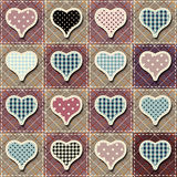 Hearts patchwork pattern Royalty Free Stock Photo