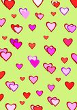 Hearts pattern Stock Photos
