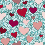 Hearts pattern 2 Stock Photo