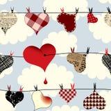 Hearts pattern Royalty Free Stock Photos